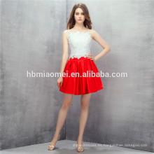 Alixpress venta caliente mini vestido de noche nueva correa de espagueti de la manera más vestidos tamaño dama de honor