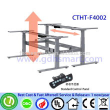 CTHT-F4002 electric height adjustable desk frame for two person height adjustable laptop desk