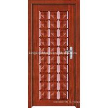 Nueva pintura Interior puerta de madera sólida (JKD-207) con diseño Simple y precio competitivo