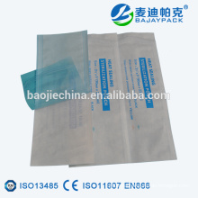 Heat sealing flat pouch with steam and EO sterilization