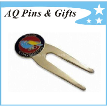 Imitation Cloisonne Golf Divot Tool in Nickel Plating (golf-09)