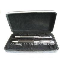 conjunto de caneta de couro