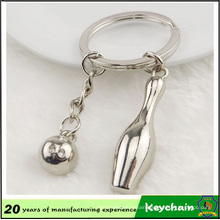 Promotion Popular High Quality Fashion Bowling Alloy Keychain