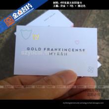 Impressoras de cartão de visita em relevo em tela de seda