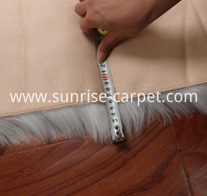 Faux fur flooring carpet for home backing size