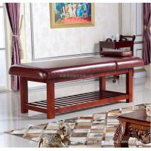 Beleza alta qualidade de madeira tailandesa massageador facial cama