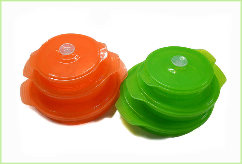 Reusable Food Grade Silicone Lunch Bento Bowl