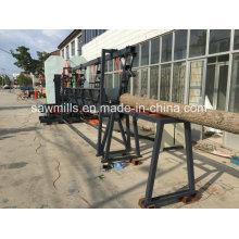 Sägewerk Holzbearbeitung mit Carriage Twin vertikale Bandsäge