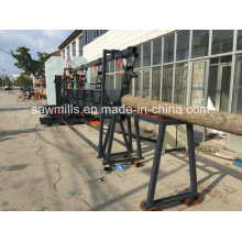 Serraria de carpintaria com serra de fita vertical dupla carruagem