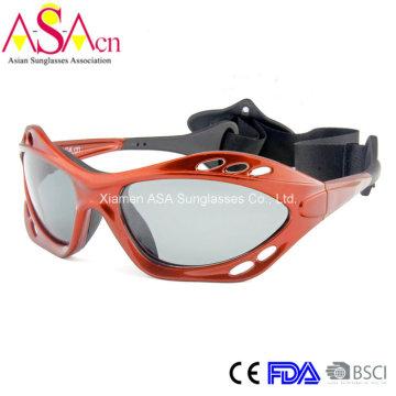 Men′s PC Floating Frame Nylon Strapsport Sunglasses (14362)