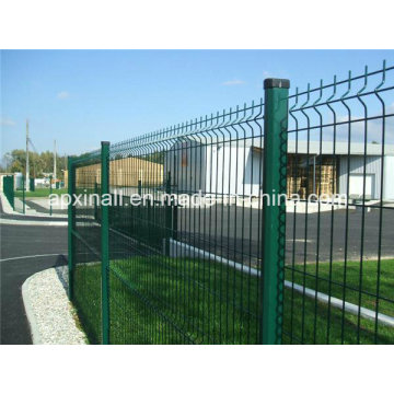 Curved Industrial Fence PVC Coated Welded Wire Mesh Panel