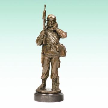 Metall männlich Soldat Home Deco Armee Bronze Skulptur Statue Tpy-476