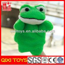 Marionnette à main pas cher de grenouille en peluche pour la marionnette de main de grenouille de vente