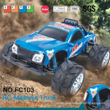 2014 new rc truck! 4CH 1:10 large scale digital plastic rc truck car with lights