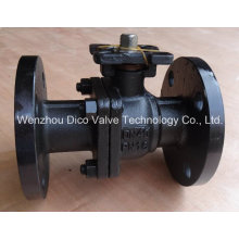 Carbon Steel 2PC Floating Ball Valve with Mouting Pad