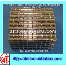 Imán de disco de capa D8.2x8 níquel para caja