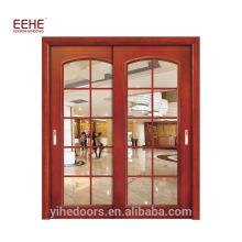 Portes d'entrée de bureau en verre d'impact de porte de salle de bains en verre de conception moderne