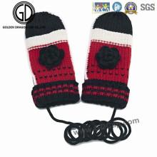Cadeau de Noël Ladies Cute Super Soft Simple Warm Knit Gloves