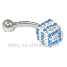 Großhandelsart und weise Piercing Kristall-Bauchnabel-Ring