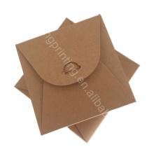 Logotipo modificado para requisitos particulares Caja de empaquetado de papel de Kraft de calidad superior ampliamente utilizada