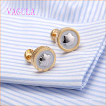 VAGULA Rose Gold Plated en White Painting Brand Cufflink
