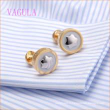 VAGULA plaqué or rose dans le bouton de manchette de la marque de peinture blanche