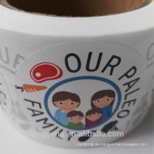Top-Qualität benutzerdefinierte Logo Label Aufkleber kreisförmigen Aufkleber
