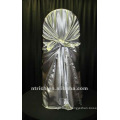 self-tie back chair cover,CT204 satin chair cover,universal chair cover