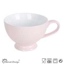 Tasse à soupe de 22 oz à l'intérieur blanc extérieur rose avec étoile gravée