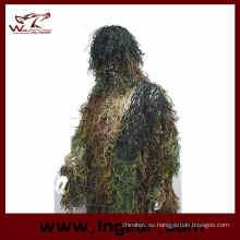 Caza Airsoft Ghillie Suit Traje Suit Ghilies táctico para la venta