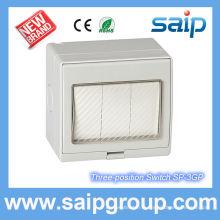 Saip Saipwell OEM ODM électronique IP55, commutateur double, avec double contrôle, 250V