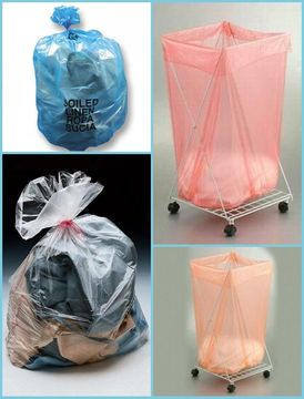 "26 "" X 33 "" Pva 100% Water Soluble Laundry Bag With Top Drawstring For Hospital"