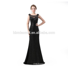Elegant Long design Evening Dresses floor length sequins black sexy long eveing dress 2018