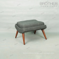 Home goods comfortable wooden footstool ottoman