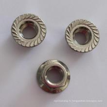 Écrous à bride hexagonale, M4-M64, acier au carbone, acier haute résistance, acier inoxydable