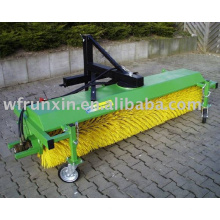 PTO street sweeper with dust box