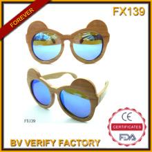 Fx139 Wooden Material 100% Purely Handcraft Frames Kids Sunglasses