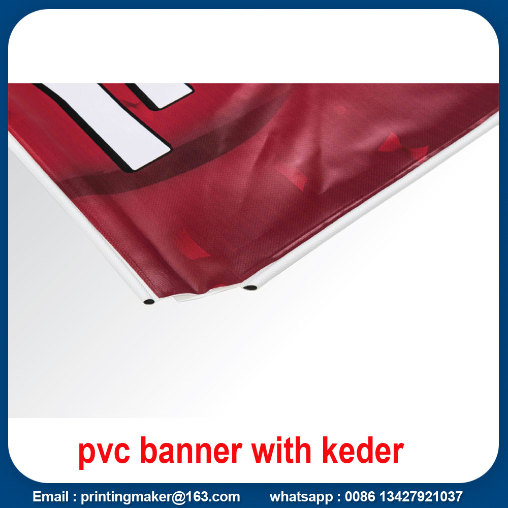 vinyl banner with keder edge