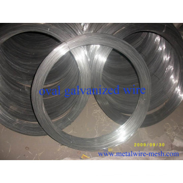 Oval Galvanized Steel Wire 2.2mmx2.7mm for Farm Fencing