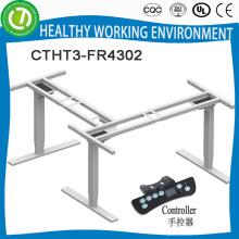 Executive höhenverstellbarer L-förmiger Schreibtisch mit elektrischem Höhenregler