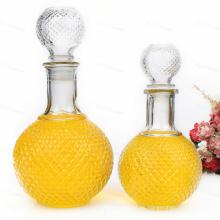 750ml 1000ml Glas Weinflasche Kristall Glasflasche für Spirituosen, Whisky, Likör