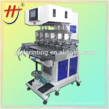 Vente chaude de l'imprimante à tampon électrique HP-300FY de précision, imprimante à tampon à cadran, machine à imprimer à six couleurs