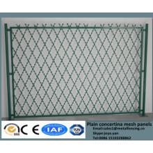 2015 сплошной противоугонная двор охранять решетки с покрытием из ПВХ сварные Егоза барьерного ограждения колючей проволокой, сварки безопасности ограждая панели