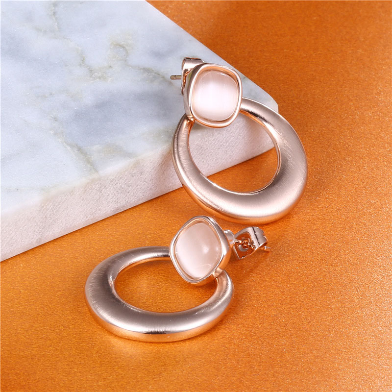 Womens Rose Gold Earrings