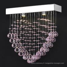 mariages led lustre décoration en acier inoxydable éclairage