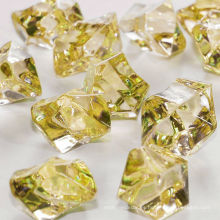 Venta al por mayor de hielo acrílico de color, oro