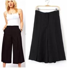 Pantalons courts en mousseline de soie à la mode