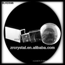 Disque flash en forme de boule en cristal USB