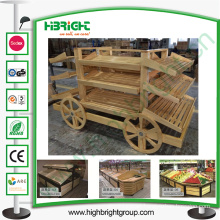 Super Market Bread Car and Fruit Display Rack