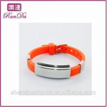 Alibaba venda mais quente todas as pulseiras de silicone de cor